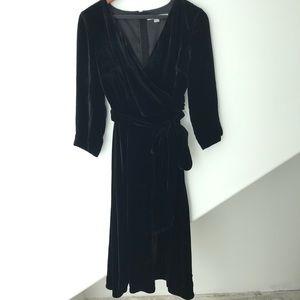 Boden Velvet Midi Dress
